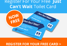 'Just Can't Wait!' toilet card