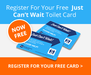 'Just Can't Wait!' toilet card Article
